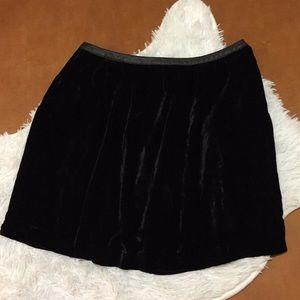 2 for $20 CYRILLUS Black Velvet Skirt Size 10